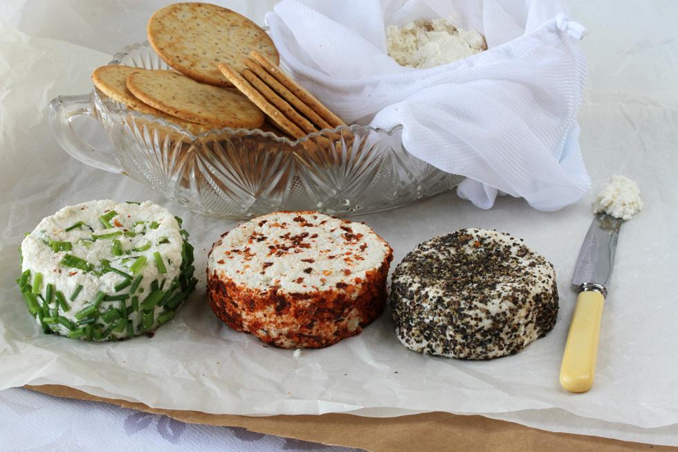 אפשר להכין גם בטעמים. גבינת שקדים (צילום, סגנון והכנה: אסנת לסטר)