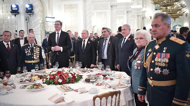 Нетаниягу в Москве на торжественном приеме в честь Дня Победы