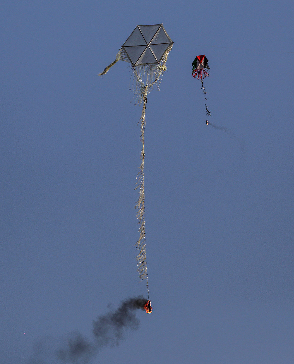 Kites affixed with incendiary devices (Photo: AP)