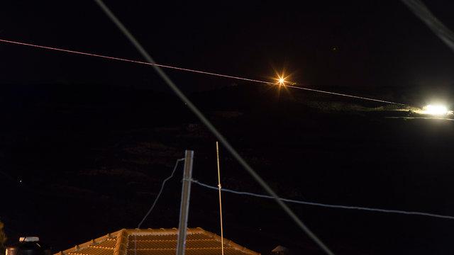 יירוט רקטה סורית (צילום: EPA)
