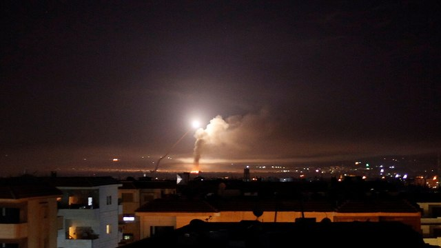 File photo. A purported Israel strike in Syria (Photo: Reuters)
