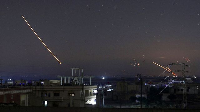 Antiaircraft fire in Syria (Photo: Reuters)