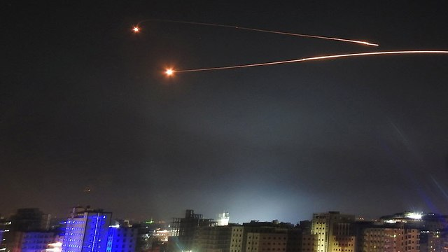 Syrian air defense fire targeting Israeli warplanes, missiles on Thursday (Photo: Reuters)