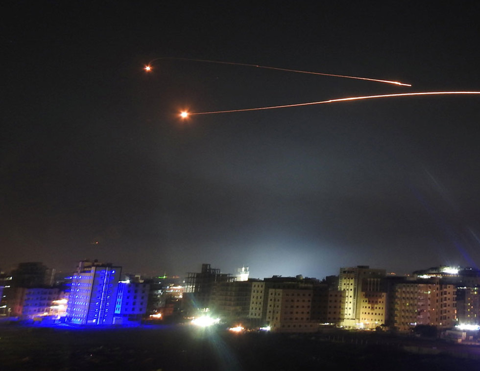 Syrian antiaircraft fire, Wednesday night (Photo: Reuters)