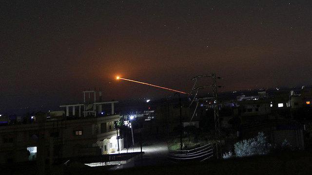 תעמולה סורית ההגנה הסורית מראה כי יירוט טילים הצליח תקיפה צה