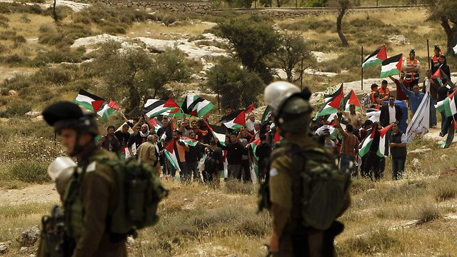 Nakba march in West Bank