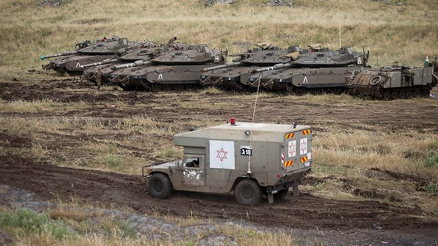 An IDF ambulance near the Syrian border in the Golan Heights (Photo: AP)
