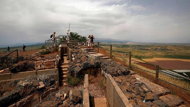 Israelis at a Golan Heights tourist spot (Photo: AFP)