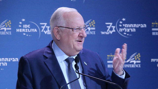 President Rivlin said Iran posed the greatest danger to world peace (Photo: Motti Kimchi)