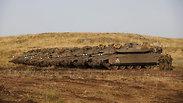 טנקים מרכבה רמת הגולן גבול סוריה (צילום: רויטרס)