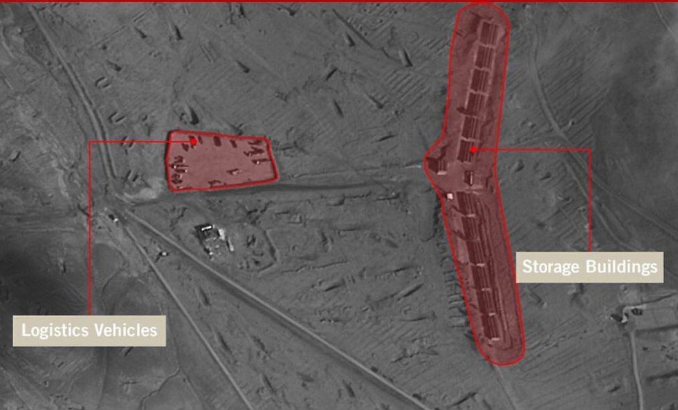 Military compound belonging to Iran's Quds Force that was struck in al-Kisweh (Photo: IDF Spokesperson's Unit)