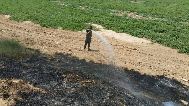 Aftermath of the fire (Photo: Sdot Negev Regional Council)