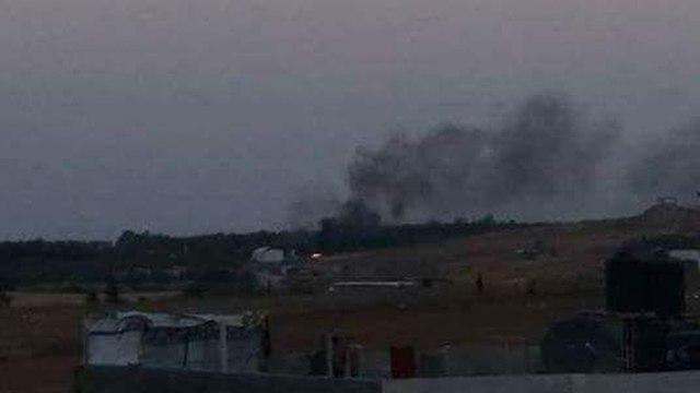 La grève de l'IAF à Gaza