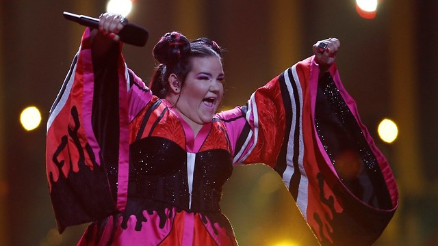 Netta performed Toy in the Lisbon Eurovision Song Contest final (Photo: Reuters)