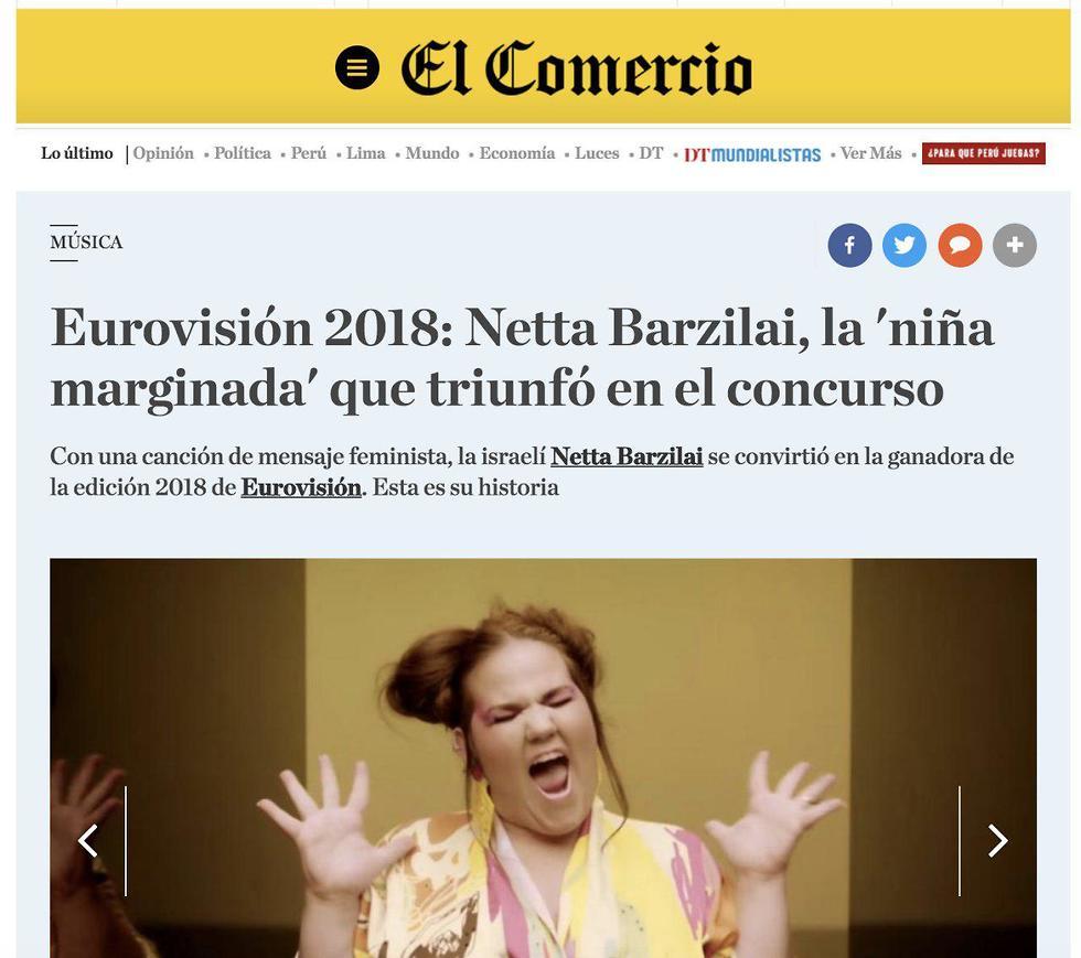 הכותרת ב-El Comercio ()