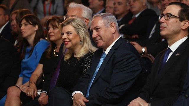 Netanyahu with his wife Sara (Photo: Ohad Zwigenberg)