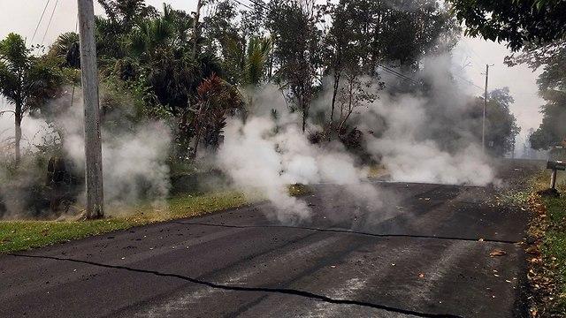 הוואי התפרצות הר געש לבה (צילום: AP)