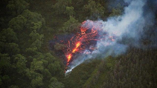 הוואי התפרצות הר געש לבה (צילום: EPA)