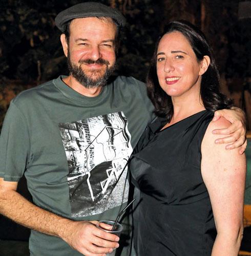 איתי הרמן ואשתו, דנה הרמן (צילום: סיון פרג')