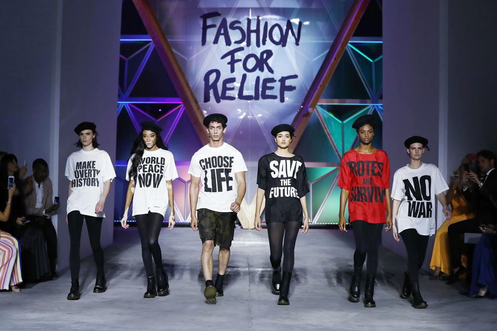 Fashion for Relief הוא אירוע צדקה שמתקיים בקביעות משנת 2005, ומגייס כספים למטרות חברתיות  (John Phillips/GettyimagesIL)