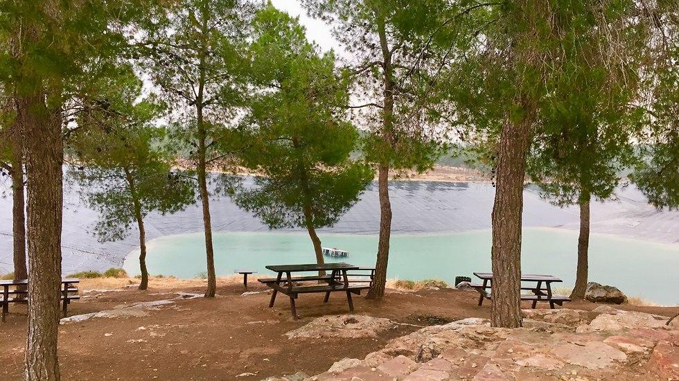 תצפית מאגר המים ביער יתיר (צילום: יעל לרנר)