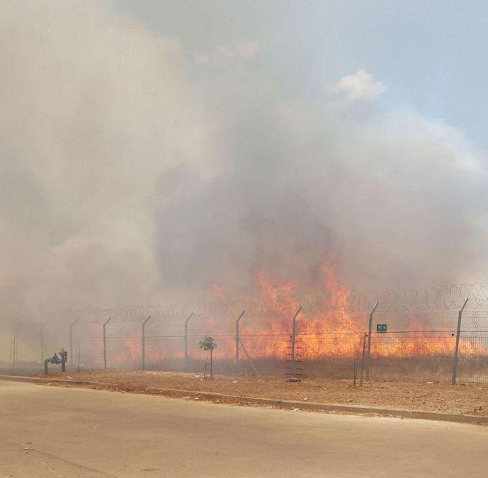 שריפה קיבוץ מפלסים ()