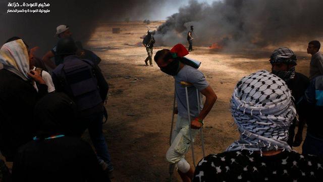 Демонстрант в Газе