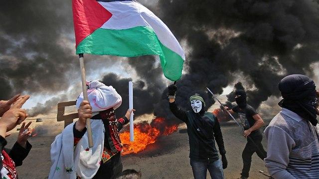 """""""Мирная демонстрация"""" в Газе. Фото: AFP (Photo: AFP)"""