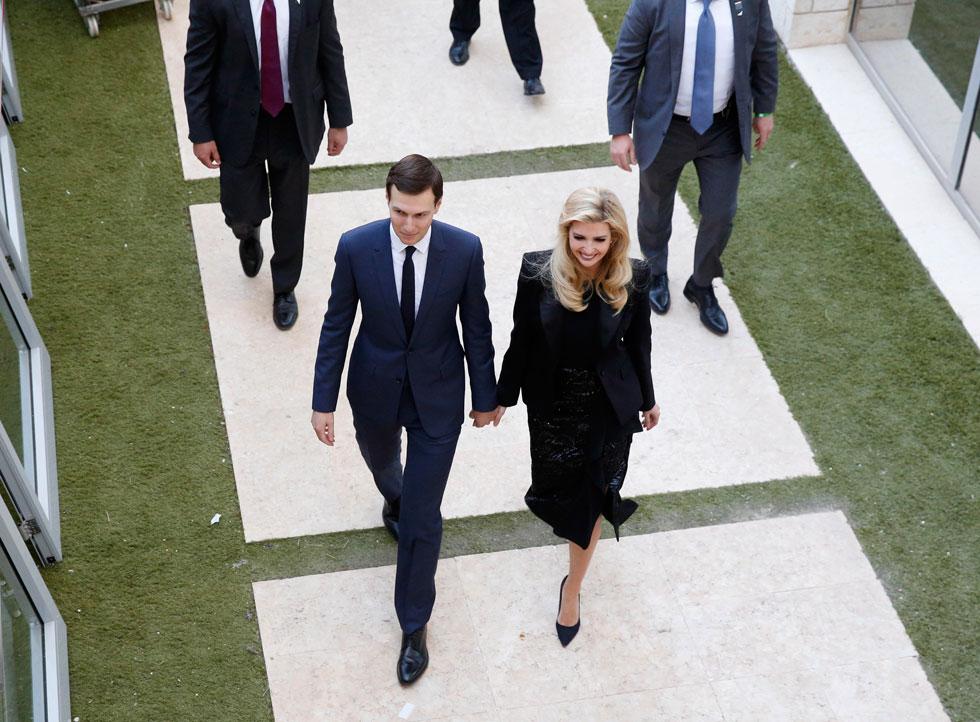 בקבלת הפנים החגיגית במשרד החוץ: חצאית ויסקוזה מעוטרת פאייטים במחיר 21,342 שקל (צילום: EPA)