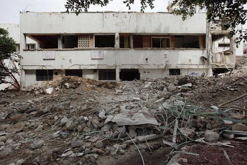 כך הוא נראה ביום שבו נהרס. המבנה ההיסטורי נשאר (צילום: אמית הרמן)