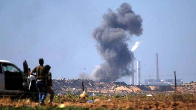 Smoke following IDF strike in Gaza (Photo: AFP) (Photo: AFP)