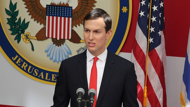 Jared Kushner at US Embassy opening. Will Trump keeps his promise to reach 'the deal of the century' too?  (Photo: Amit Shabi)