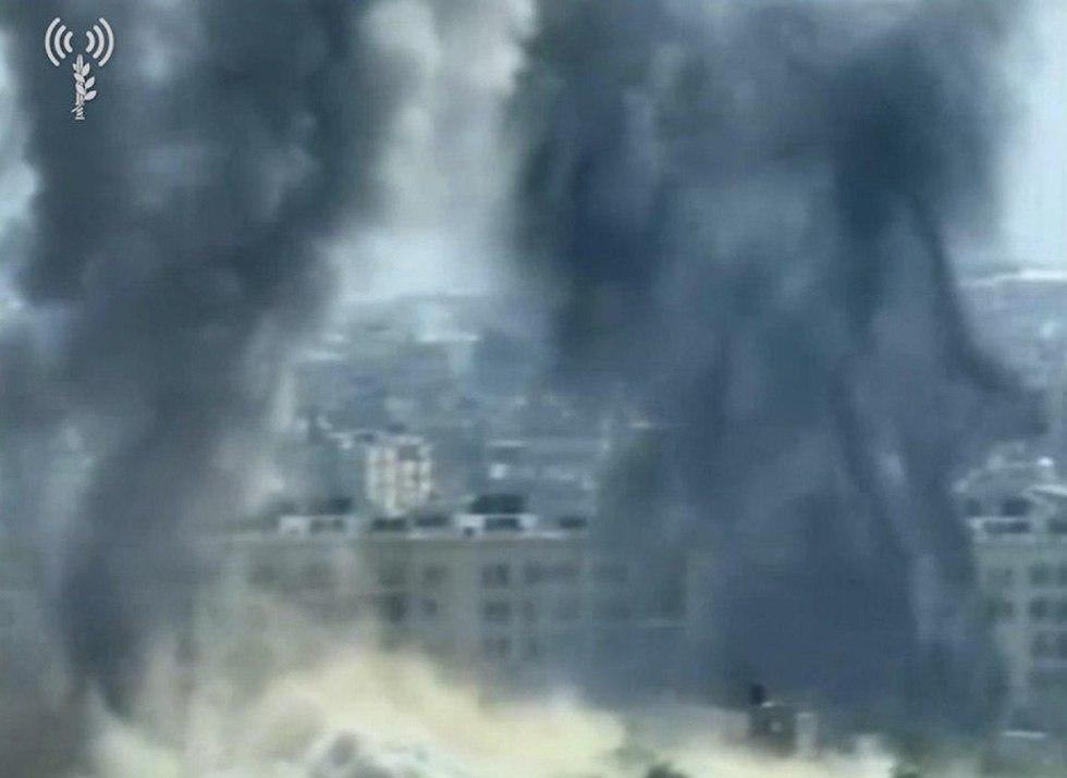 תקיפת עמדת חמאס (צילום: דובר צה