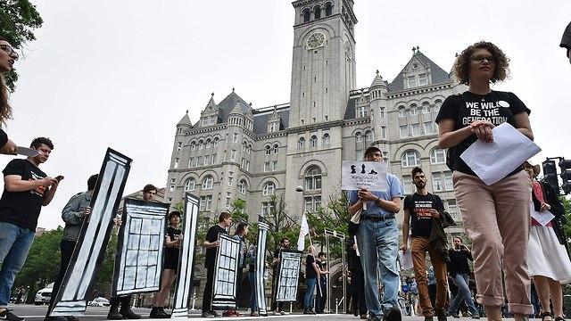 US Jews protest Trump's embassy move (Photo: Reuters)