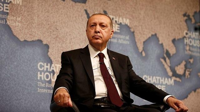 נשיא טורקיה רג'פ טאיפ ארדואן ביקור ב לונדון בריטניה (צילום: רויטרס)