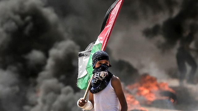 Documentation of the events from the Palestinian side (Photo: AFP)