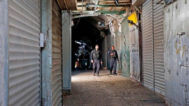 שביתה של בתי עסק במזרח ירושלים (צילום: AFP)