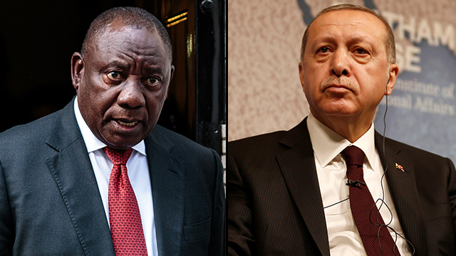 South African President Cyril Ramaphosa, Erdogan (Photo: Reuters, Getty Images)