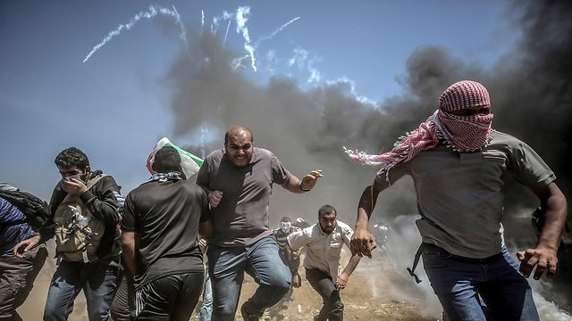 Clashes on the Gaza border (Photo: EPA)