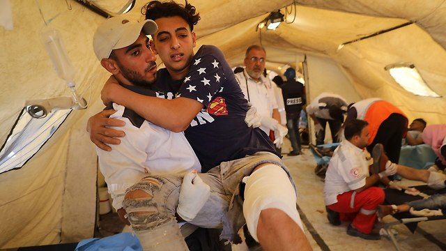 בית חולים שדה פצוע מחאה פלסטינית עזה עימותים עם ישראל צה