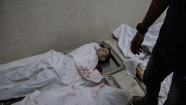 גופות פלסטינים רצועת עזה עימותים עם ישראל צה