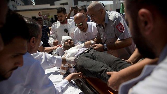 בית חולים עזה עימותים פלסטינים עם צה