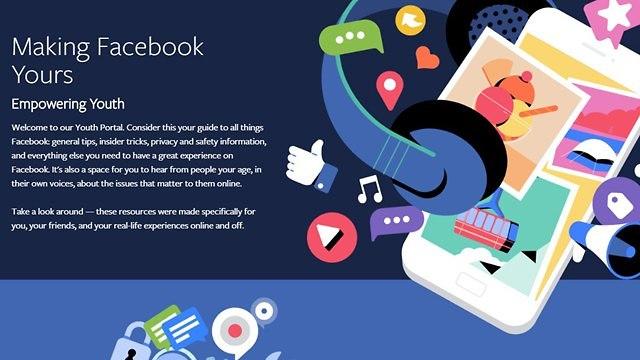 פורטל הנוער של פייסבוק (צילום מסך)