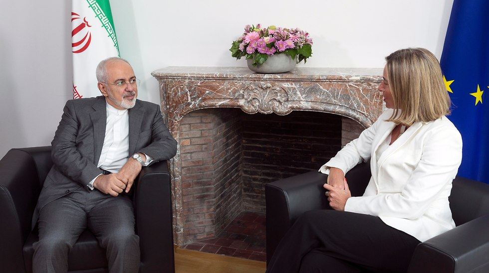 Iranian Foreign Minister Mohammed Javad Zarif with EU Foreign Policy Chief Federica Mogherini in 2018 (Photo: EPA)