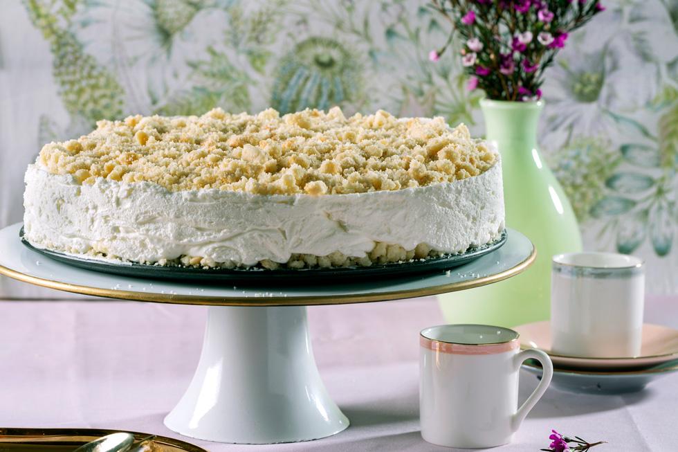 עוגת גבינה-פירורים  (צילום: בועז לביא, סגנון: נועה קרניק)