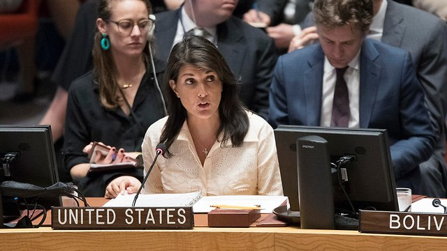 US Ambassador Haley assured Israel the US will exercise its veto power if it needs to (Photo: AP)