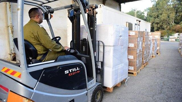 Медикаменты для Газы. Фото: пресс-служба ЦАХАЛа (Photo: IDF Spokesperson's Unit)