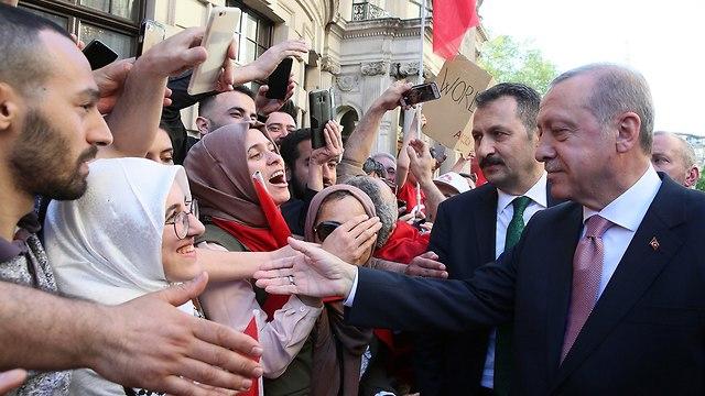 נשיא טורקיה רג'פ טאיפ ארדואן (צילום: AP)