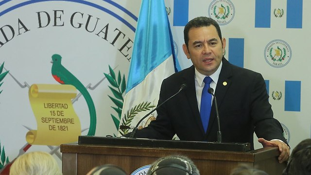 Guatemala's President Jimmy Morales (Photo: Marc Israel Sellem)