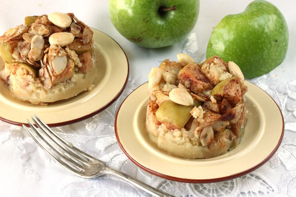 קינוח שקדים ותפוחים בקינמון (צילום, סגנון והכנה: אסנת לסטר)